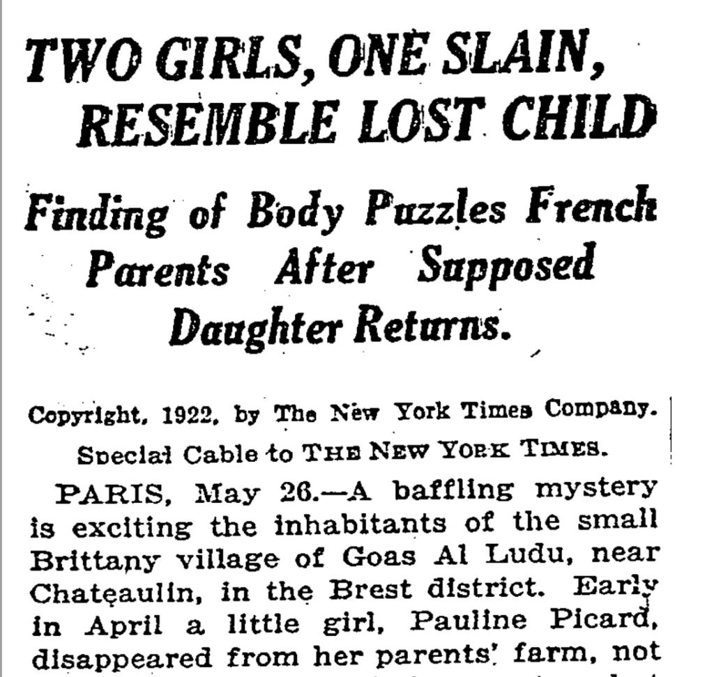 The Bizarre Case of Pauline Picard