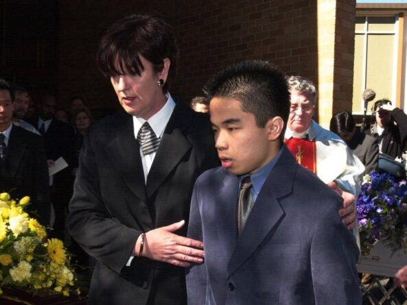 Sef during his family's funeral.